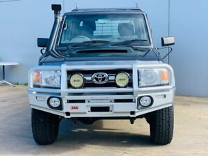 2016 Toyota Landcruiser VDJ79R GXL Double Cab Grey 5 Speed Manual Cab Chassis