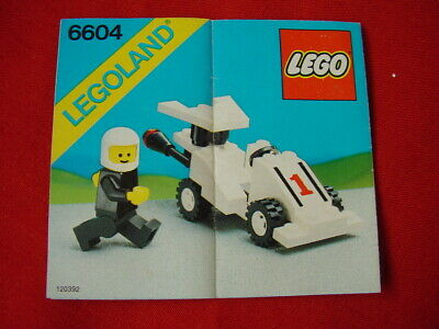 LEGO TOWN 6604 FORMULA 1 RACER CAR 100% COMPLETE VINTAGE SET 1985 (See my items)