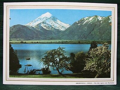 Pan American Airline 1965 Rainbow Service Menu W Argentina Chile Lake Cover