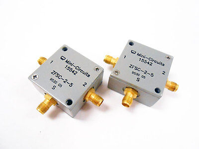 2x Mini-circuits Zfsc-2-5 Power Splitter Ghz Rf Microwave Frequency