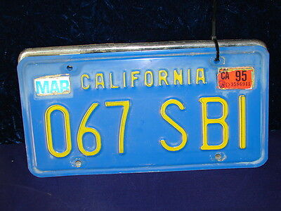 Vtg 1970S Pair Ca Automobile License Plates Id Tags  067 Sbi  Not Dmv Clear