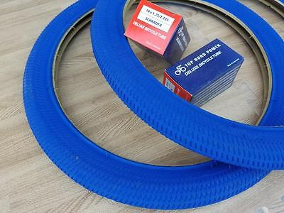 New Kids BLUE Bicycle Tires and Tubes 18x1.95 Fits 1.75 2.125 BMX 18