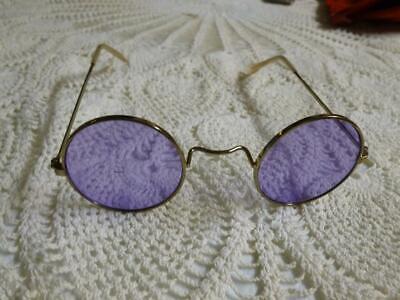 Steampunk Light Purple John Lennon STYLE Hippie Retro Sunglasses