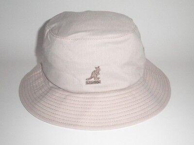 NEW Kangol WYNN BUCKET Hat Beige S/M ($40) Cap Flexfit Golf Fish RARE Tan