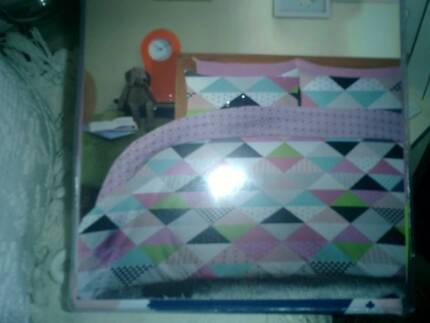 Pink Multi Colour SINGLE SIZE Quilt Cover Set - BRAND NEW