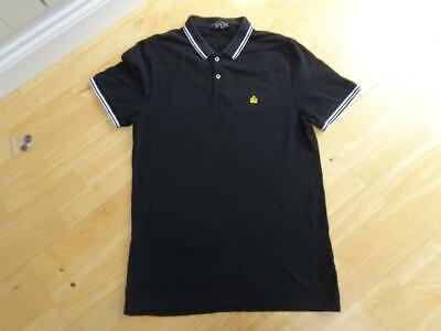 ADMIRAL mens black polo neck t shirt top SIZE MEDIUM EXCELLENT COND