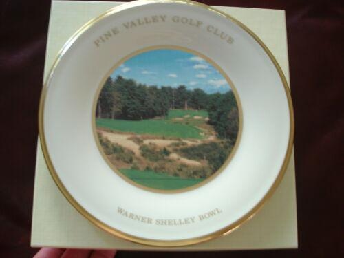 Scarce PINE VALLEY GOLF CLUB Lenox TROPHY PLATE IN BOX Warner Shelley Bowl