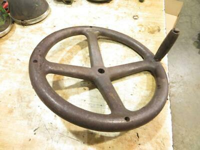 John Deere Unstyled D Steel Steering Wheel And Spinning Knob D61r M1426