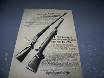 "1969 REMINGTON ""540X TARGET RIFLE""..1-PAGE ORIGINAL SALES AD.. (208W)"