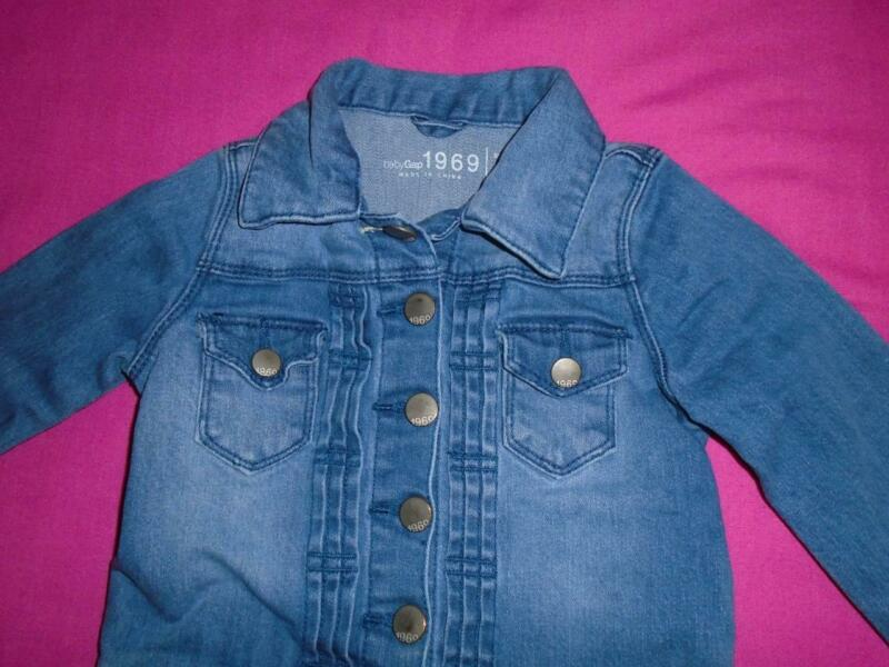 Girls Size 3 Years Baby Gap Jean Jacket Blue Snap Front VGUC