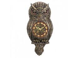 Chronology Wisdom Owl Steampunk Clock