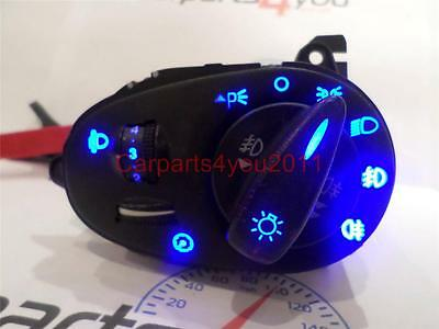 FOCUS MK1 98 04 ALL BLUE LED HEADLIGHT SWITCH FR  RR FOG  FREE UK POSTAGE