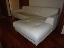 Leather lounge - 2 seater plus chaise Killara Ku-ring-gai Area Preview
