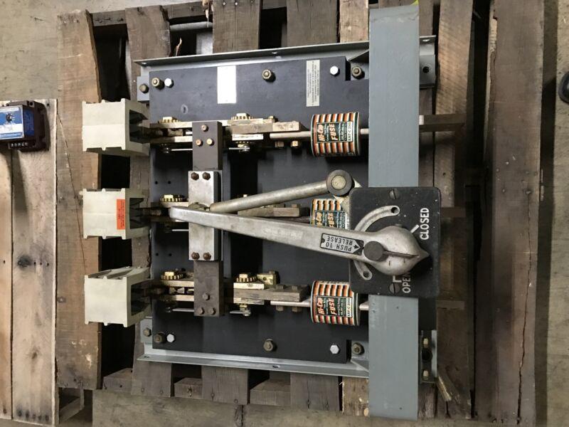 Barkelew Bolt-loc Xd-20033-2 2000amp 240volt 3p Switch (#24664) Used