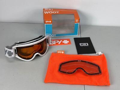 39a85cb1e8eb Spy Optic Woot White Snow Goggle One Size Silver Mirror + Persimmon
