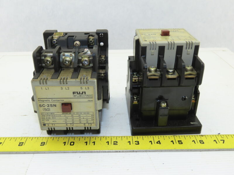 Fuji Electric SC-2SN 600V 3 Pole Magnetic Contactor 110V Coil Lot Of 2