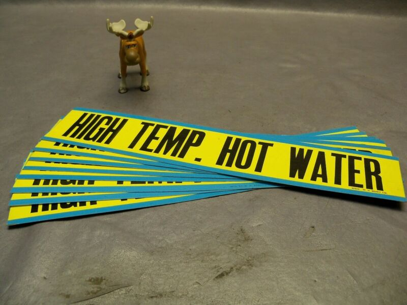 Brady High Temp Hot Water Pipe Marker Lot of 8