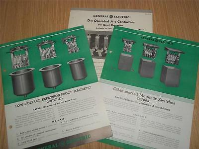 Vtg General Electric Catalog Inserts~Magnetic Switches/Contactors~1935 Brochure