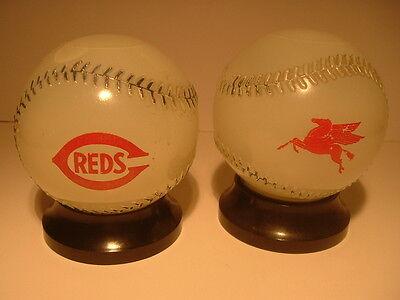 1950S Cincinnati Reds Mobil Oil Baseball Bank
