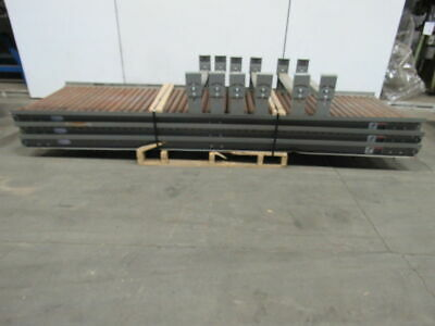 Lewco 120lx31bf Steel Gravity Roller Conveyor 1.90 Rollers Wlegs Lot Of 3