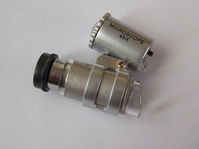 Jewellers Loupe Mini Microscope X45 Magnification.