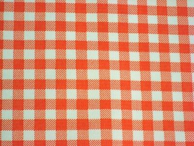 Western Tischdecken (ORANGE GINGHAM CHECK RETRO WESTERN KITCHEN DINE OILCLOTH VINYL TABLECLOTH 48x48)