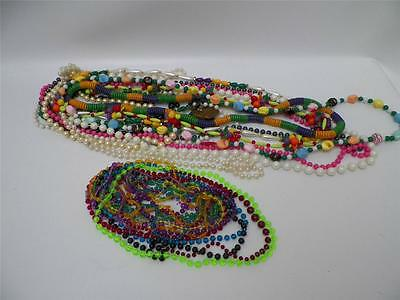 VTG 1991 Lot of New Orleans Mardis Gras Colorful Necklaces and Beads 30 Pieces