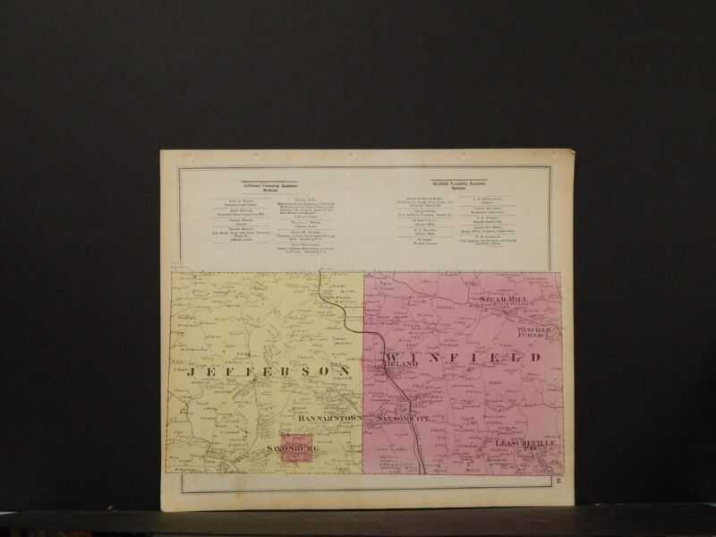 Pennsylvania, Butler County Map, 1874, Townships of Jefferson & Winfield, K1#72