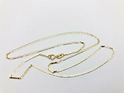 Solid Mariner Link Chain - 1.2mm Mariner Gucci Anchor Link Chain Necklace Solid 10K Yellow Gold 16-24