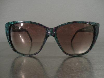 Vintage 1980s Ellesse Marchon France Caribe Emerald Pearl 58-13 140 Sunglasses