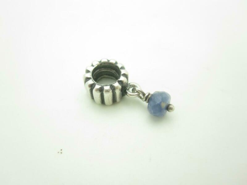 Pandora Sterling Silver Blue Dangle Charm
