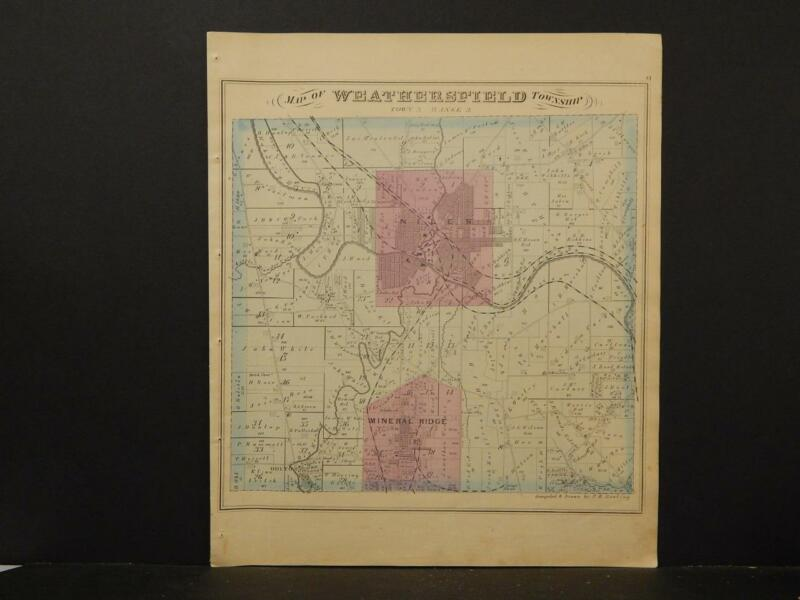 Ohio, Trumbel County Map, 1874 Township of Weathersfield K4#29