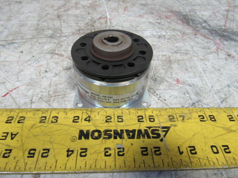"""Warner 5319-631-002 Model PB-250 6 V DC Flange Mount Brake 3/8"""" Bore"""