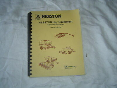 1990-93 Hesston Hay Equipment Service Info Manual 514 Baler 8400 Windrower