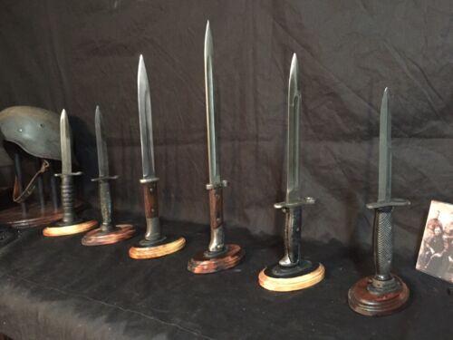 Bayonet Stands for WWI,WWII,Vietnam, & Korean era Bayonets. US, German,etc.