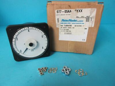 New Meter Master Cr077-05ra-hg 4-20dcma 0-8 X1000 Gallon Gal Crompton Panel