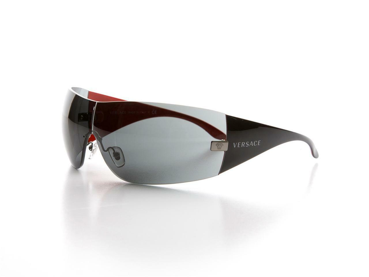 246afd779f Details about NEW Authentic VERSACE VE 2054 Sunglasses 1001 87 Black Red  Grey VE2054 2O54