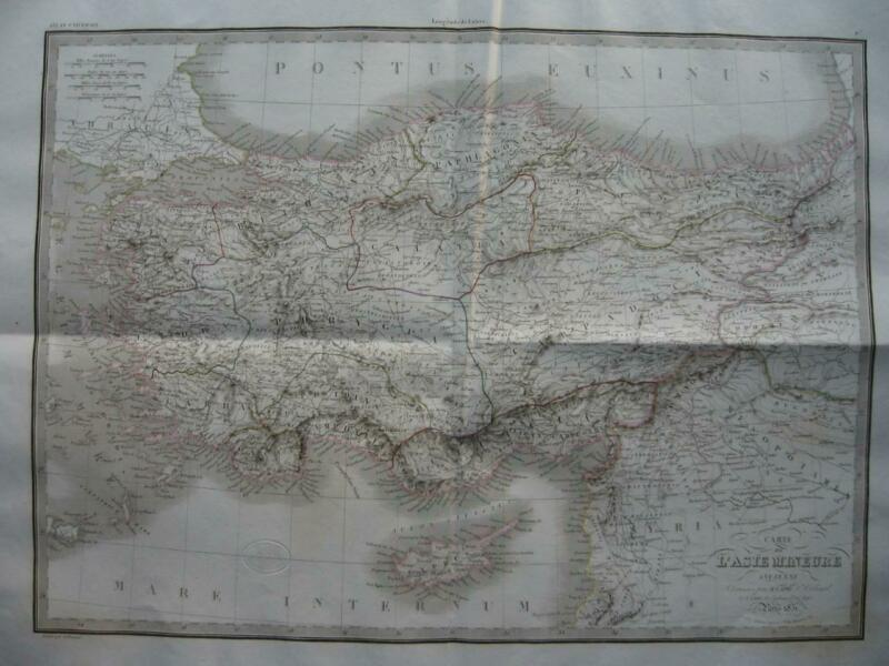 1831 - LAPIE - Large map ASIA MINOR  Turkey Anatolia Armenia Cyprus