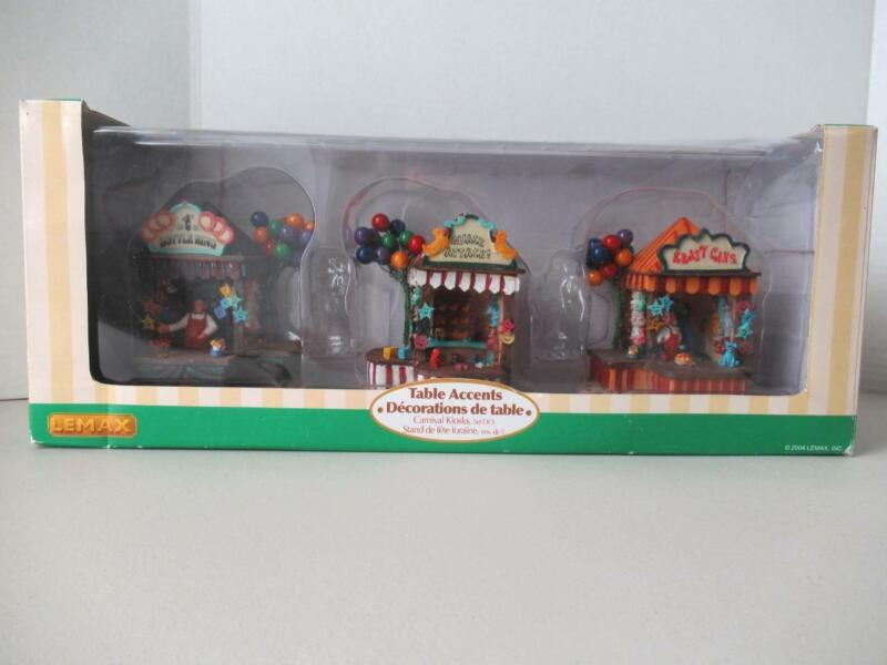 Lemax Village Collection Carnival Kiosks in Original Box 2004 Incomplete