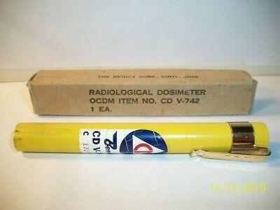 20 CD V-742 Bendix Dosimeters Pens Docimeters Cold War Radiation Dector TWENTY