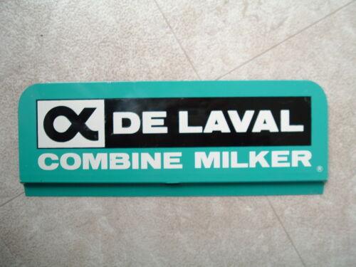 Vintage New Old Stock, Flanged 2-Sided Delaval Combine Milker Sign De Laval