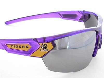 Louisiana State Tigers Transparent Purple Yellow Mens Sunglasses LSU (Lsu Sunglasses For Men)