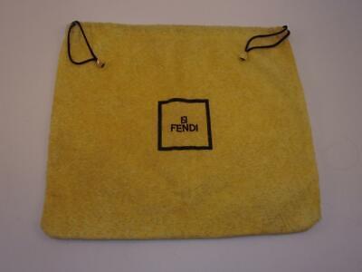 "AUTHENTIC FENDI~Handbag Purse~Drawstring Storage Dust Bag~YELLOW~Italy~15""x13"""