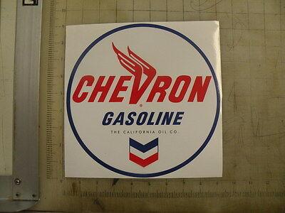 """Vintage Chevron Gasoline sticker 9"""" diameter"""