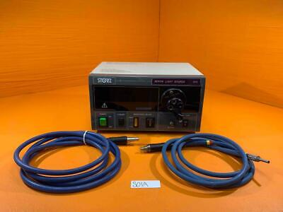 Storz Xenon Light Source 615 W Two Unmarked Light Cables