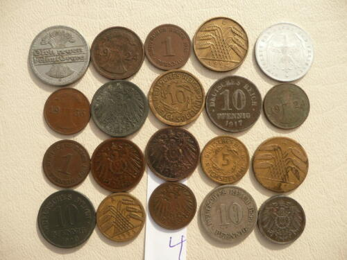Lot of 20 Germany Coins - Empire and Weimar - Lot 4