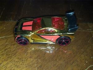 New-Loose-2007-Hot-Wheels-Mystery-Car-Gold-and-Red-Power-Rage