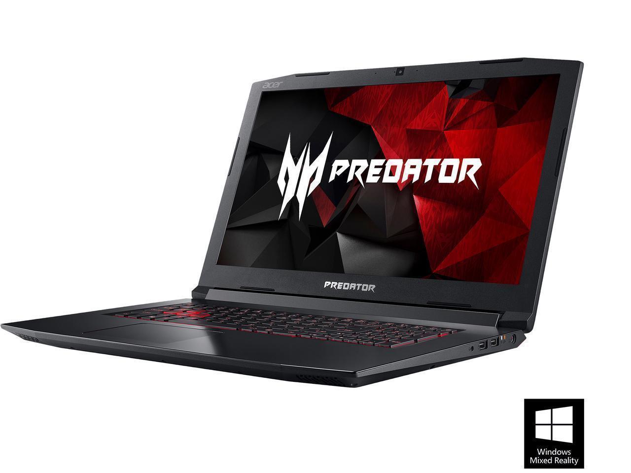 Acer Predator Helios 300 G3 571 77kb 156 Ips Intel I7 7700hq 6mb White Edition 16gb 256gb 1tb Gtx1060 Quad 280 380ghz 8gb Ddr4 Hdd Nvidia 6gb Gddr5 Win10home Notebook