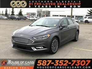 2017 Ford Fusion SE / Navi/ Leather Seats / Back up Camera