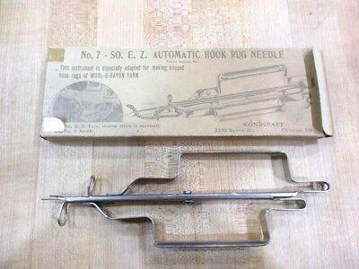 No 7 SO E Z Automatic Hook Rug Needle  Wonderart Chicago in original Bx >